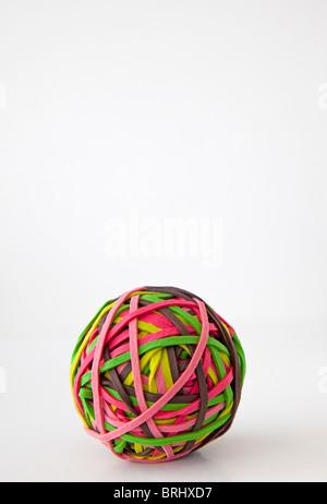 La banda di gomma sfera Foto Stock