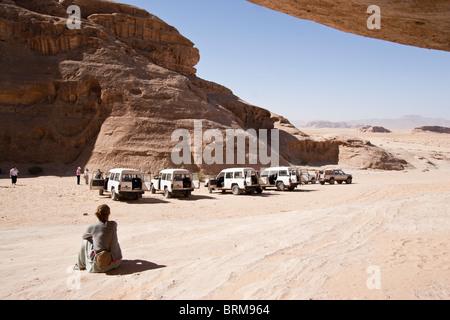 Il Wadi Rum in Giordania. Foto Stock