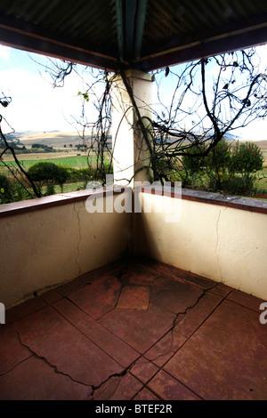 La vista dalla veranda- Lunsklip Lodge Foto Stock