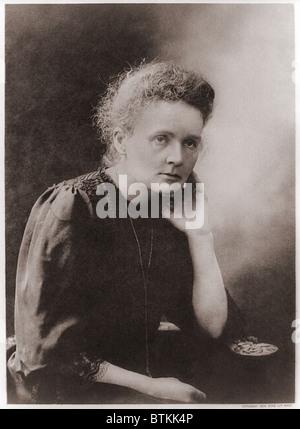 Marie Curie (1867-1934), Polish-French fisico che ha vinto due premi Nobel, nel 1903 per la fisica e 1911 per la Foto Stock