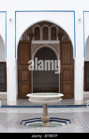 Palais de la Bahia Palace Medina Marrakech Marocco Africa del Nord Foto Stock