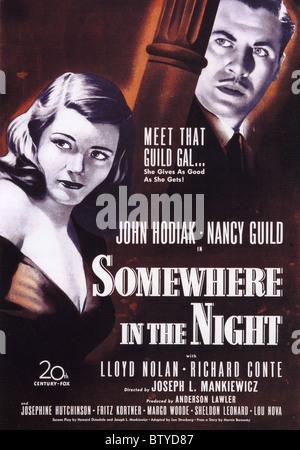 Da qualche parte nella notte Poster per 1946 film TCF Foto Stock