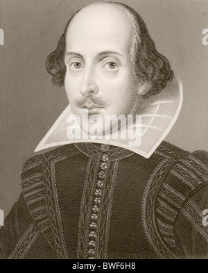 William Shakespeare, 1564 - 1616. Drammaturgo inglese e poeta. Foto Stock