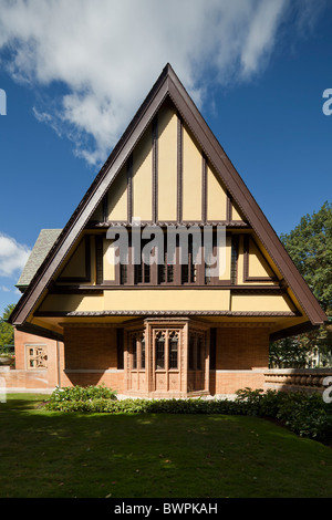Nathan G. Moore House (1895, 1923) di Frank Lloyd Wright, Oak Park, Illinois, Stati Uniti d'America Foto Stock