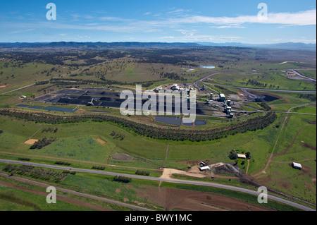 La Hunter Valley miniera di carbone NSW Australia Foto Stock