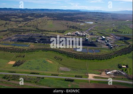 Vista aerea della trasformazione di carbone la Hunter Valley NSW Australia Foto Stock