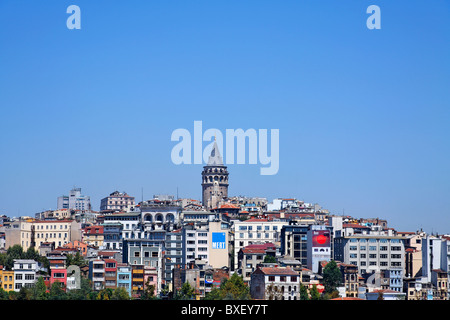 Turchia - Istanbul - Torre Galata e dello skyline della città Foto Stock