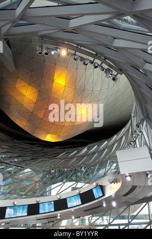 La germania,la Baviera,Monaco di Baviera, Museo BMW dettagli architettonici Foto Stock