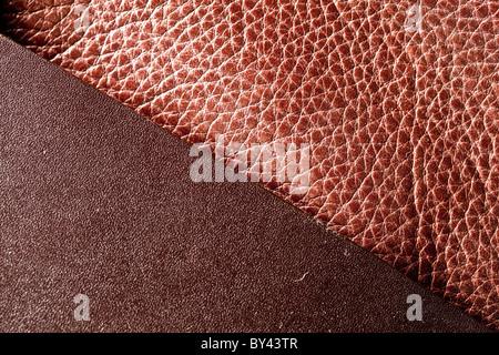Struttura di immagine di pelle marrone. Foto Stock