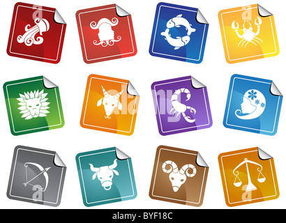 Un'immagine di 12 simboli dello zodiaco.