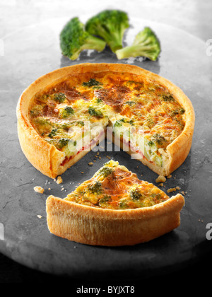 Quiche di broccoli Foto Stock