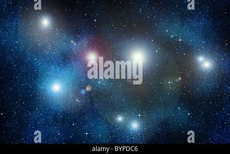 Grande immagine di spazio o di un cielo stellato Foto Stock