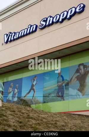 Una vitamina Shoppe store. Foto Stock