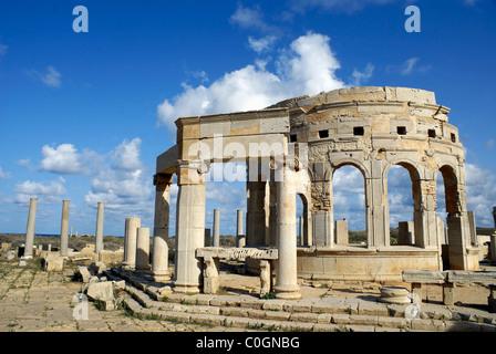 Leptis Magna Mercato - Libia Foto Stock