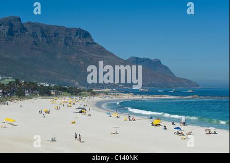 Spiaggia di Camps Bay Città del Capo Sud Africa Foto Stock