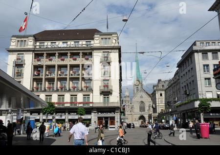 Paradeplatz, Zurigo, Svizzera, Europa Foto Stock