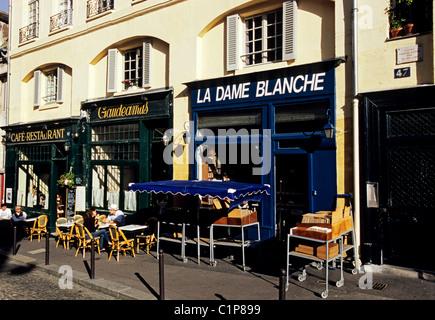 Francia, Parigi, rue de la Montagne Sainte Geneviève Foto Stock