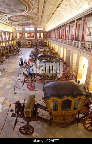 Allenatore Nazionale Museo di Lisbona - Museu Nacional Dos Coches - in Belem, Lisbona, Portogallo. Foto Stock
