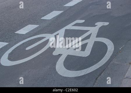 Il percorso del ciclo di Copenaghen Foto Stock