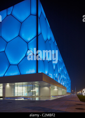 National Aquatics Centre, Pechino, Cina - il Cubo d'acqua. Architetti PTW, Arup, CSCEC CCDI e. Foto Stock
