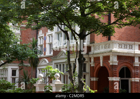 Case vittoriane a Holland Park Foto Stock