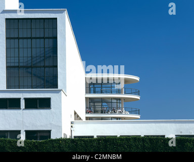 De La Warr Pavilion, Bexhill-on-Sea, Sussex, 1934. Restaurato da Troughton McAslan, 1993. Esterno. Foto Stock