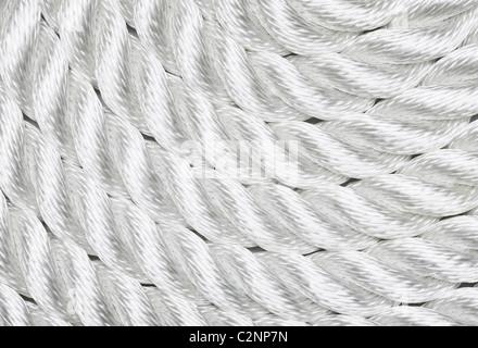 Close-up di una corda bianca Foto Stock