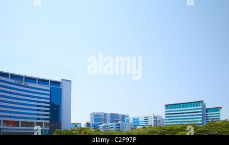 India, Hyderabad, lo sviluppo, la crescita, business, colore, colori, vibrante, street, nuovi e vecchi, Holi, finanza, Foto Stock