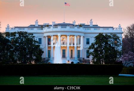 Noi la residenza presidenziale a 1600 Pennsylvania Avenue a Washington, DC Foto Stock