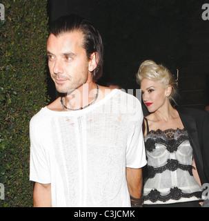 Gwen Stefani e Gavin Rossdale frequentare MOCA trentesimo anniversario Gala dopo essere partito su Sunset Boulevard Foto Stock