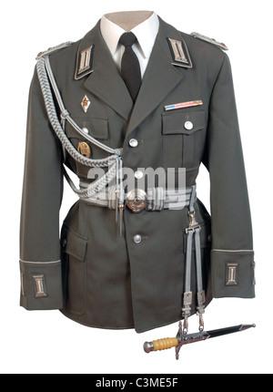 Tedesco orientale popoli nazionali ufficiali dell'esercito dovere tunica. NVA. Memoria DDR Foto Stock