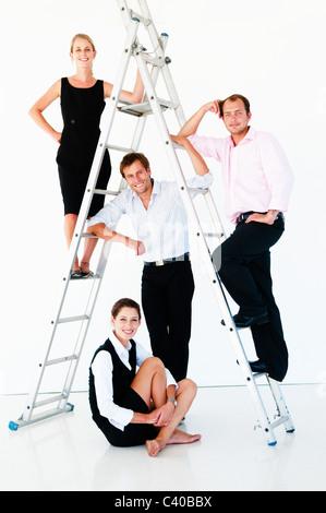 Fiducioso team aziendale Foto Stock