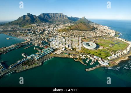 Vista aerea della città di Cape Town, Sud Africa. Foto Stock