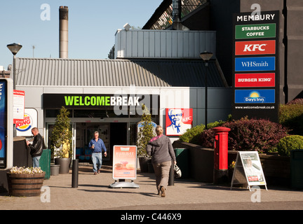 L'ingresso Membury servizi autostradali, M4, WILTSHIRE REGNO UNITO