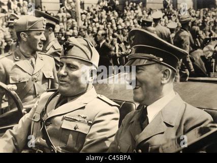 Hitler e Mussolini, 1940 Foto Stock