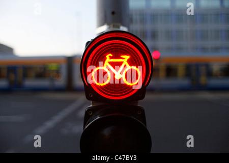 Noleggio semaforo nel centro di Lipsia Sassonia Germania orientale