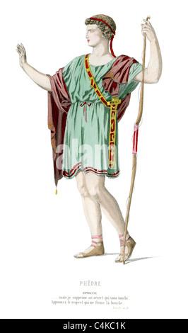 Nella mitologia greca Ippolito o Hippolyte è amazzonica regina che possedeva un corpino magico era dato da suo padre Foto Stock