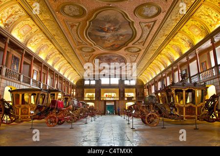 L'Europa, Portogallo, carrelli in Nazionale Museo del Pulmann a Lisbona Foto Stock