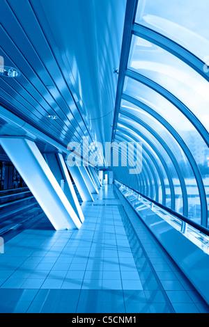 Finestre panoramiche del ponte. Foto Stock