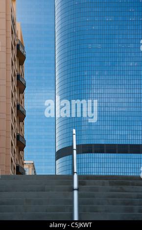 Grattacielo edifici e architettura nel centro cittadino di Los Angeles, California, Stati Uniti d'America Foto Stock