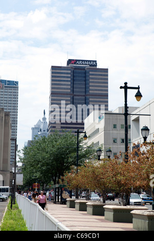 Vista la Aramark sede a Filadelfia, Pennslyvania Foto Stock