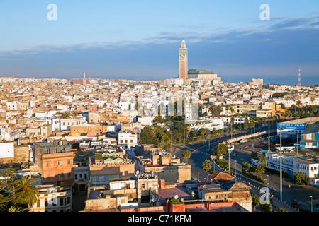 Moschea Hassan II, il terzo più grande moschea del mondo, Casablanca, Marocco, Africa del Nord