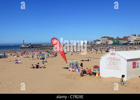 La spiaggia a Margate, Kent, Inghilterra, in estate Foto Stock