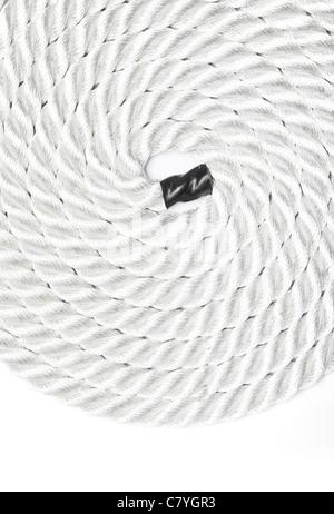Close up forte corda isolato su bianco Foto Stock