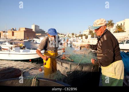 Pescatore, bari, puglia italia. Foto:Jeff Gilbert Foto Stock