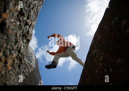 Rocce di granito, il Whisky Bay, Wilsons Promontory National Park, Victoria, Australia Foto Stock