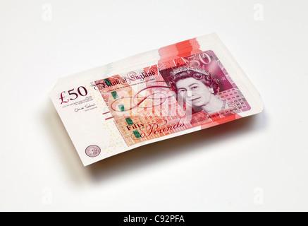 50 pound valuta britannica di banconote 50 sterline contanti ricchi ricchi di pelo