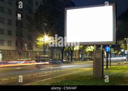 Tabellone per le affissioni in bianco Foto Stock