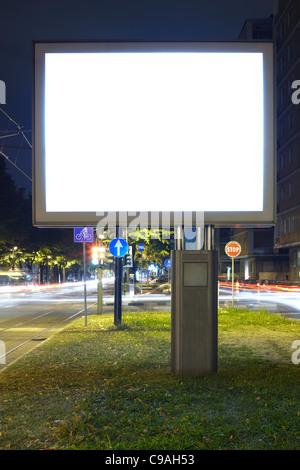 Vuota dello schermo tramite Affissioni Foto Stock