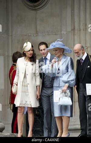 5 giugno 2012 - Londra, Spagna - Duches di Cambrigde, il principe William e Catherine Middleton frequentare la Regina Elisabetta II GIUBILEO di diamante a Saint Paul Cathedral a Londra il 5 giugno 2012 (immagine di credito: credito: Jack Abuin/ZUMAPRESS.com). Zuma/ Alamy Live News